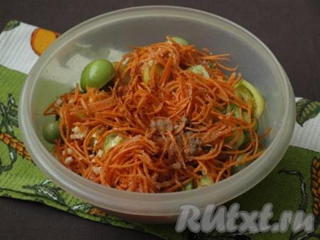 Зелёные помидоры по-корейски быстрого приготовления