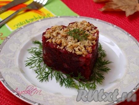 Салат из жареной свеклы рецепт