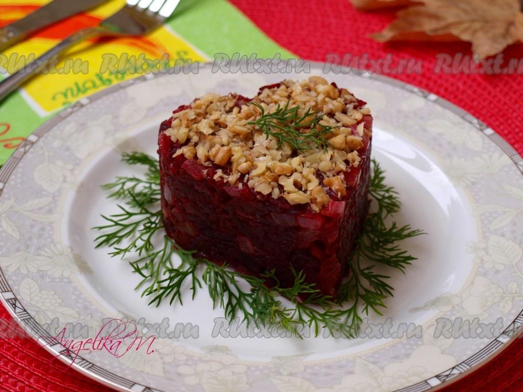 салат с фасолью с жареным луком