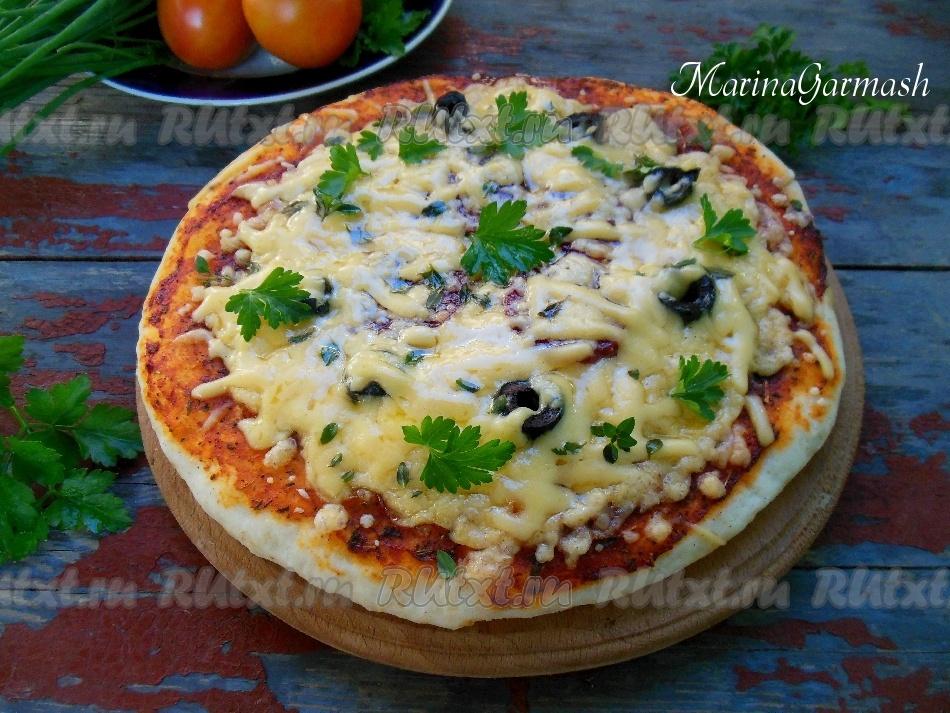 Как сделать пиццу на молоке с дрожжами