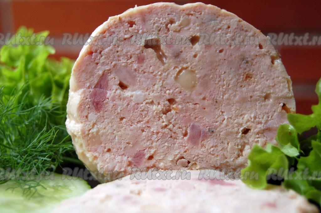 Домашняя колбаса из фарша рецепт