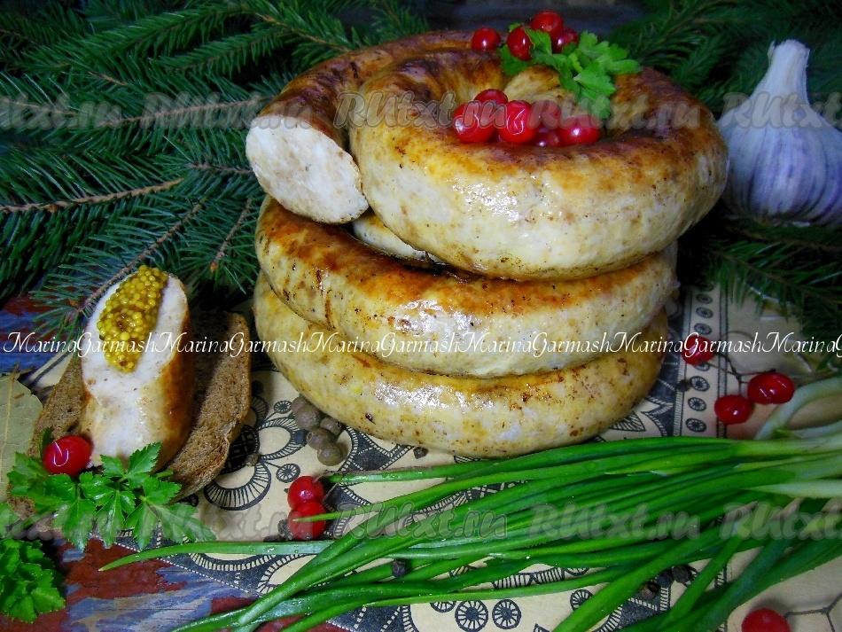 куриная колбаса в кишках рецепт