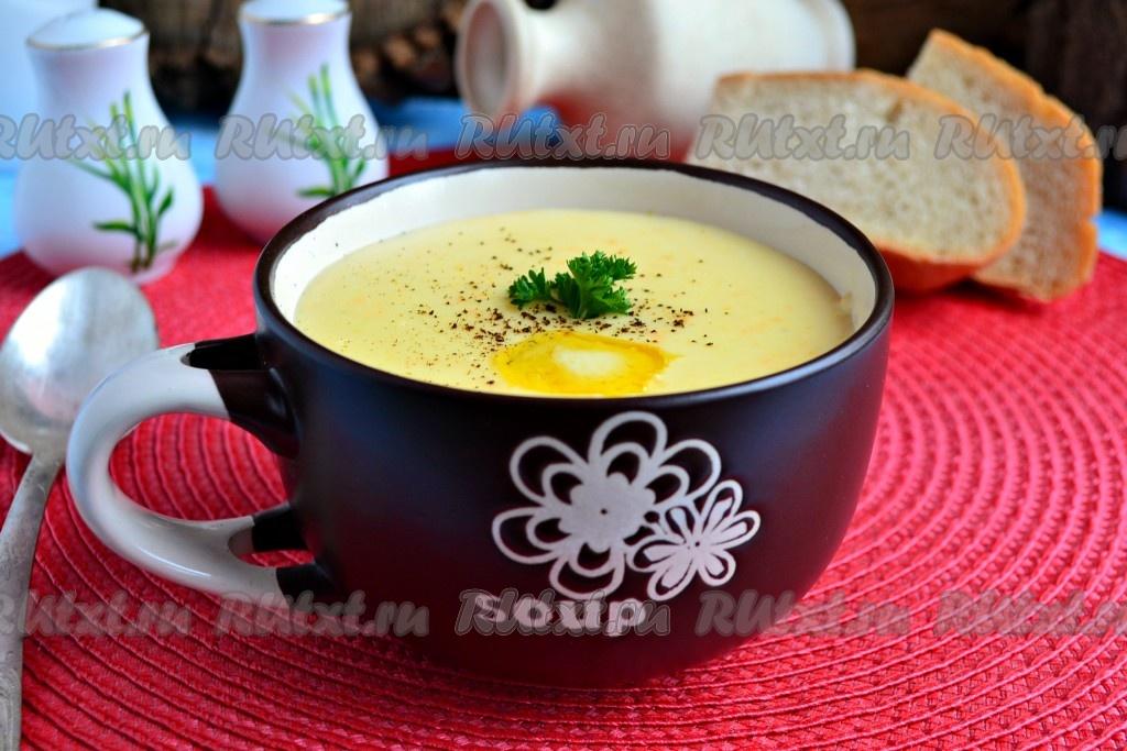 Рецепт: Суп-пюре из кабачков с плавленым сыром на ...