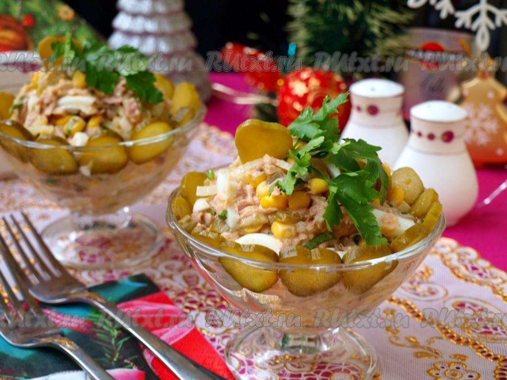 рецепт салат из тунца в собственном соку