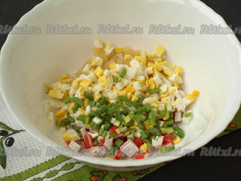Салат консервы палочки крабовые кукуруза