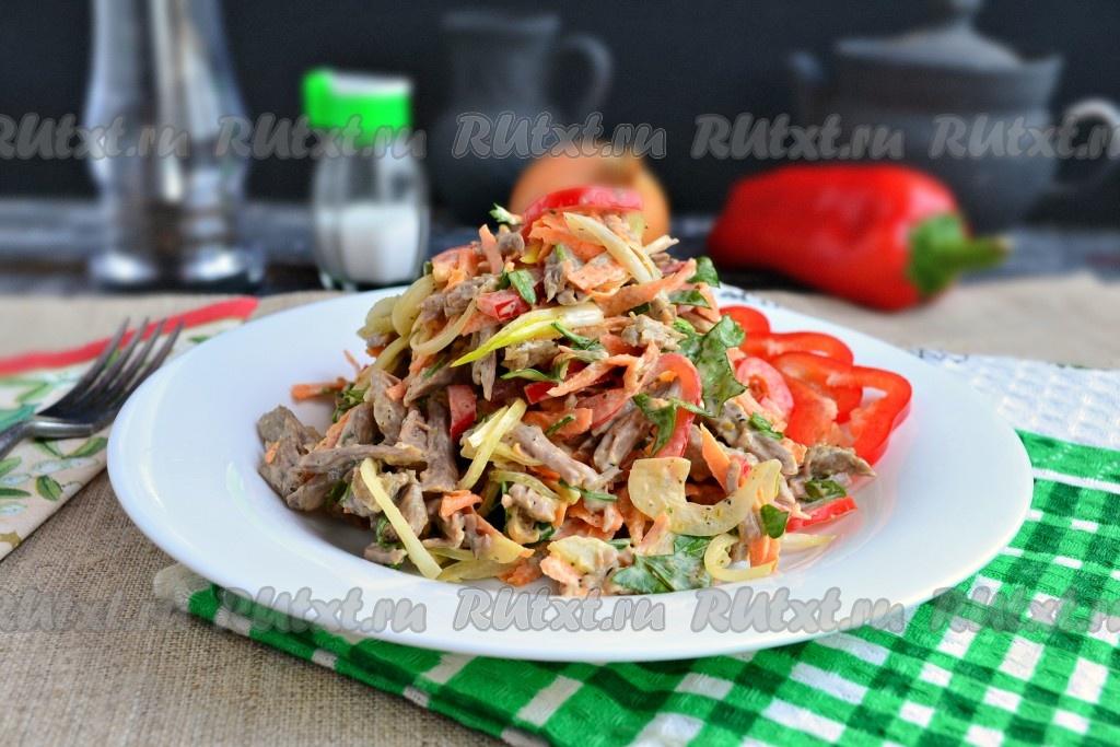 салат кавказский с говядиной и болгарским перцем