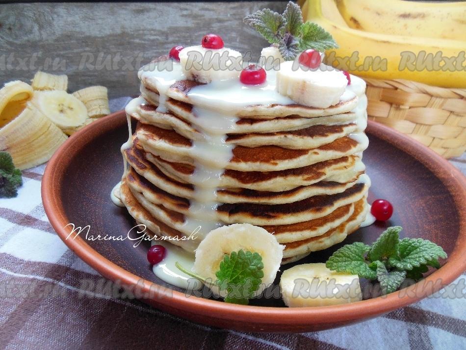 панкейки с бананом рецепт с фото на молоке