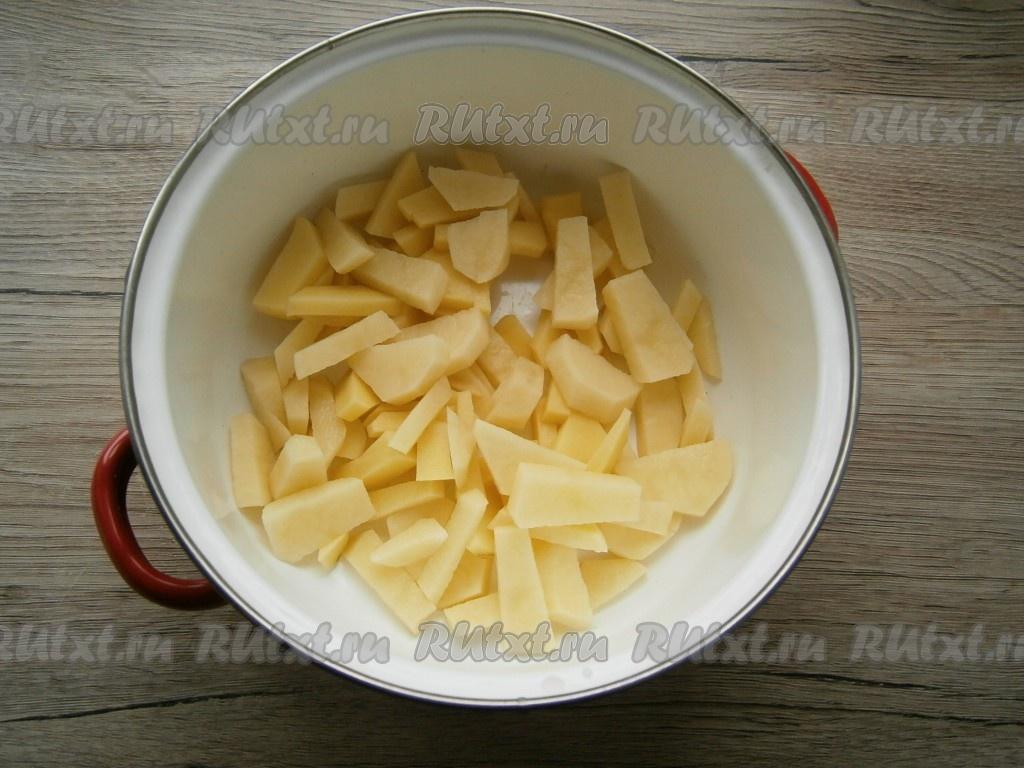 Варить овощной суп без мяса с вермишелью #10