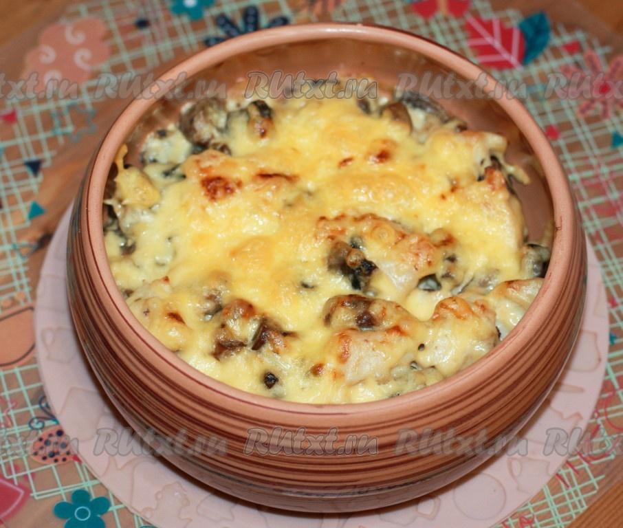 Жульен с грибами в духовке в кокотницах рецепт с фото