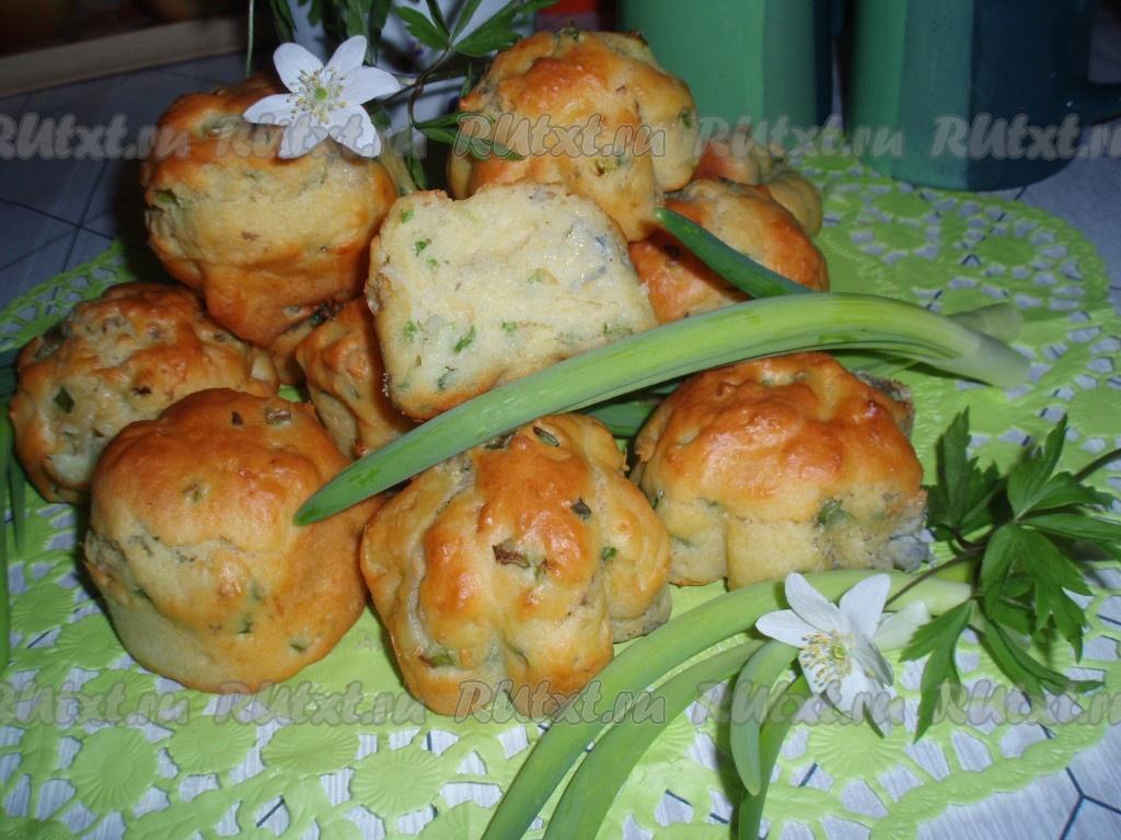кексы с грибами и сыром