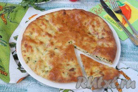 Когда хачапури с адыгейским сыром немного остынет, можно нарезать на кусочки и подавать к чаю, кофе или как пожелаете. Очень вкусно, попробуйте!