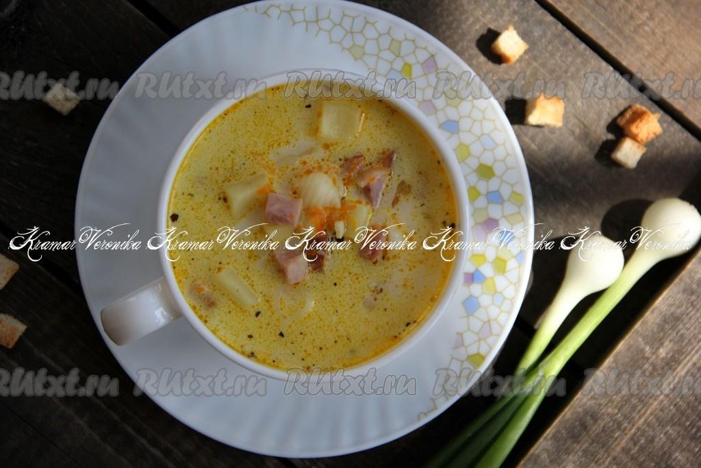 сырный суп c ветчиной рецепты