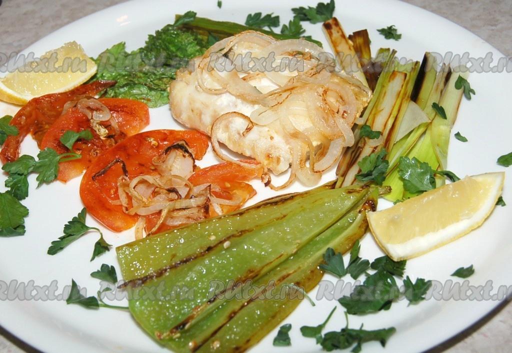 рецепты с рыбой в духовке с овощами рецепт
