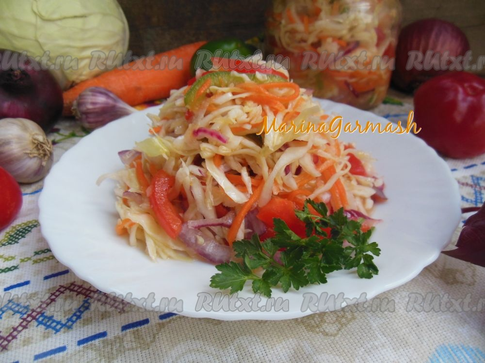 рецепт капусты с луком перцем морковью маслом