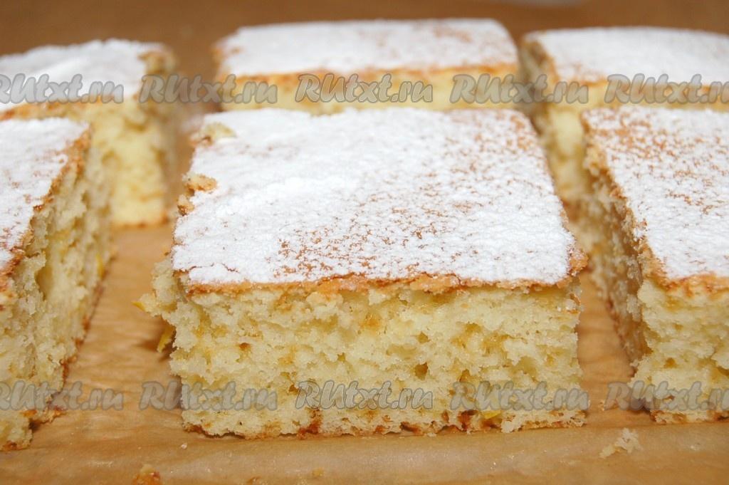 Пирог с лимонной цедрой рецепт