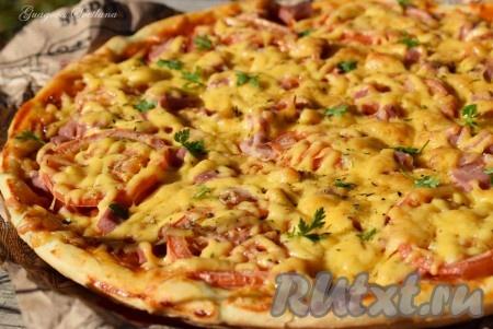 Рецепт пиццы быстрого приготовления в духовке