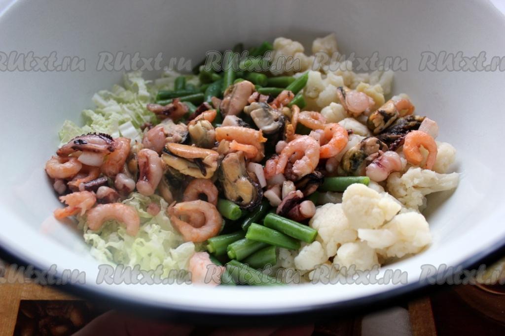 Морепродукты замороженные рецепт