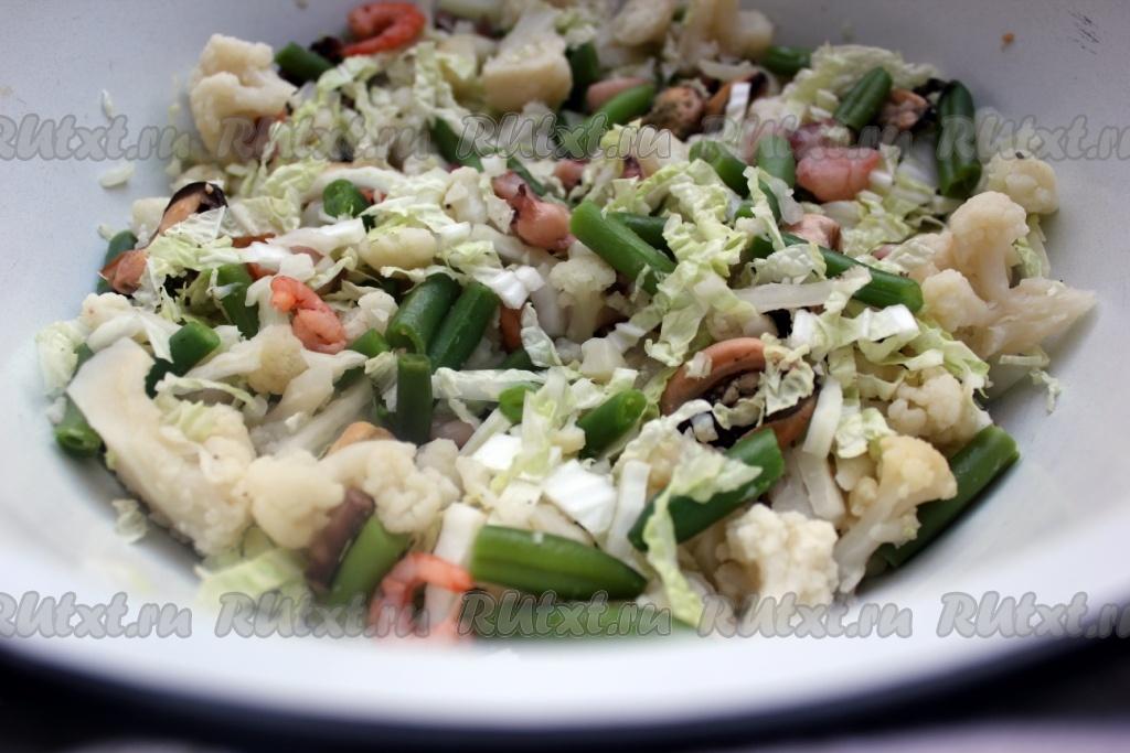салаты из замороженных овощей фото рецепт