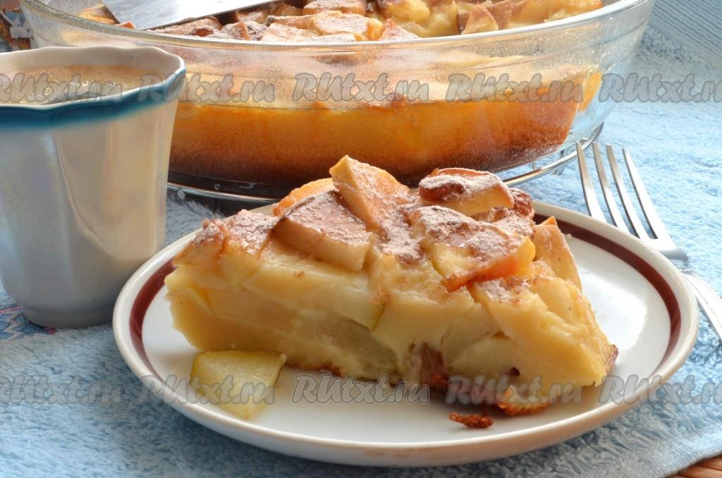 Творожная шарлотка с яблоками рецепт с фото