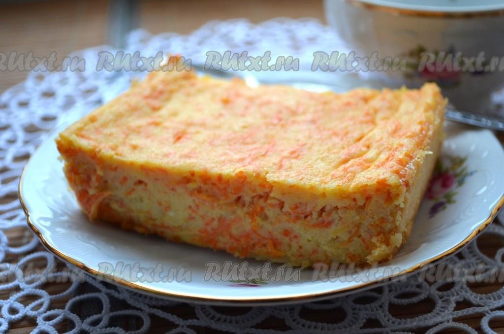 запеканка творожная рецепт морковью
