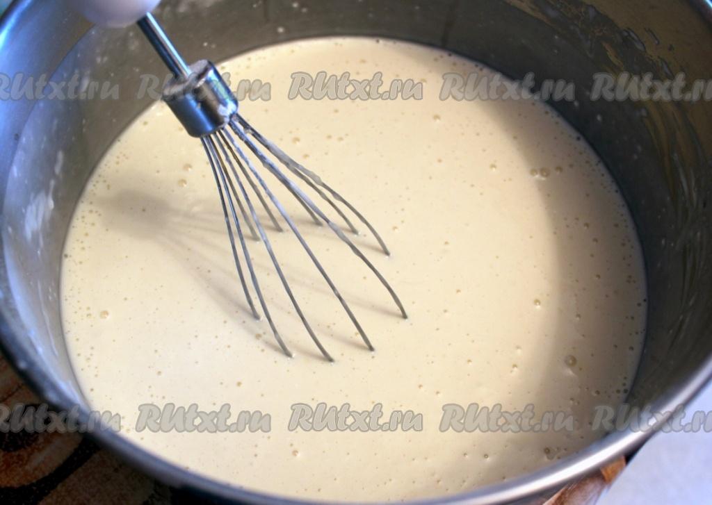 Блины на кипятке с кефиром рецепт