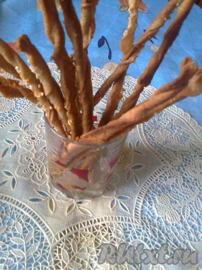 Гриссини - итальянские хлебные палочки без дрожжей