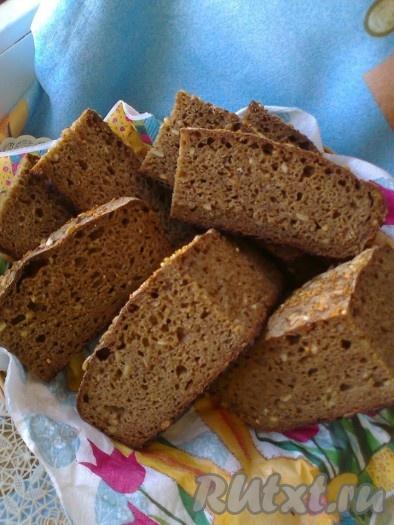 Пшенично-ржаной солодовый хлеб с семечками на закваске