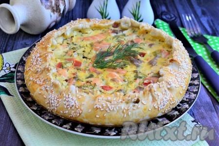Песочный пирог с рыбой