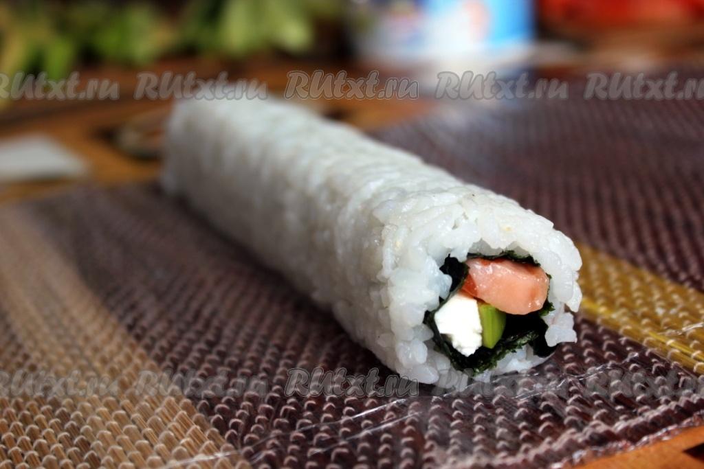 Роллы с рисом наружу в домашних условиях