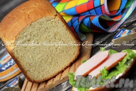 Пшеничный хлеб с отрубями в хлебопечке