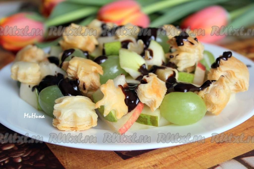 Рецепт салат из фруктов с йогуртом