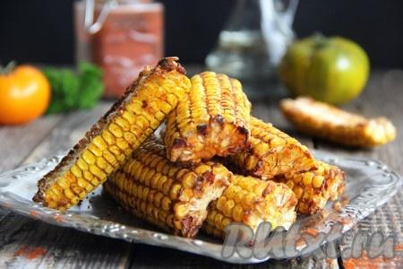Кукуруза с паприкой в духовке