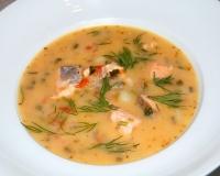финский суп с копченым лососем рецепт