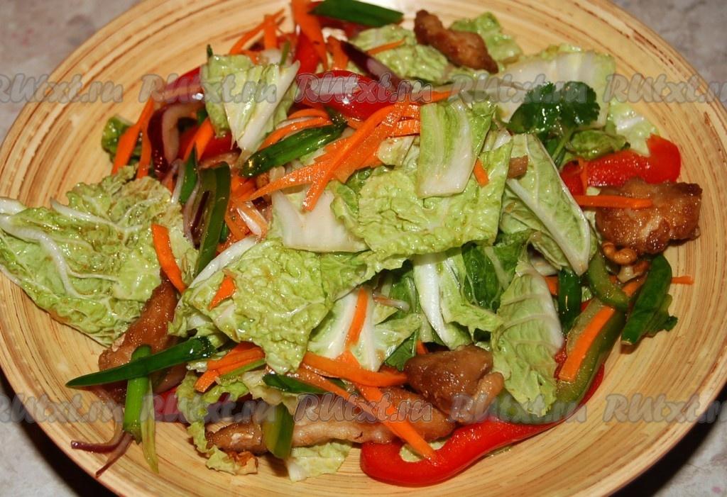 блюда из китайского салата рецепты