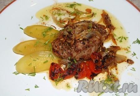 рецепт приготовления антрекота из говядины на сковороде