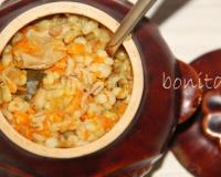 Перловка с грибами в горшочке в духовке рецепт пошагово
