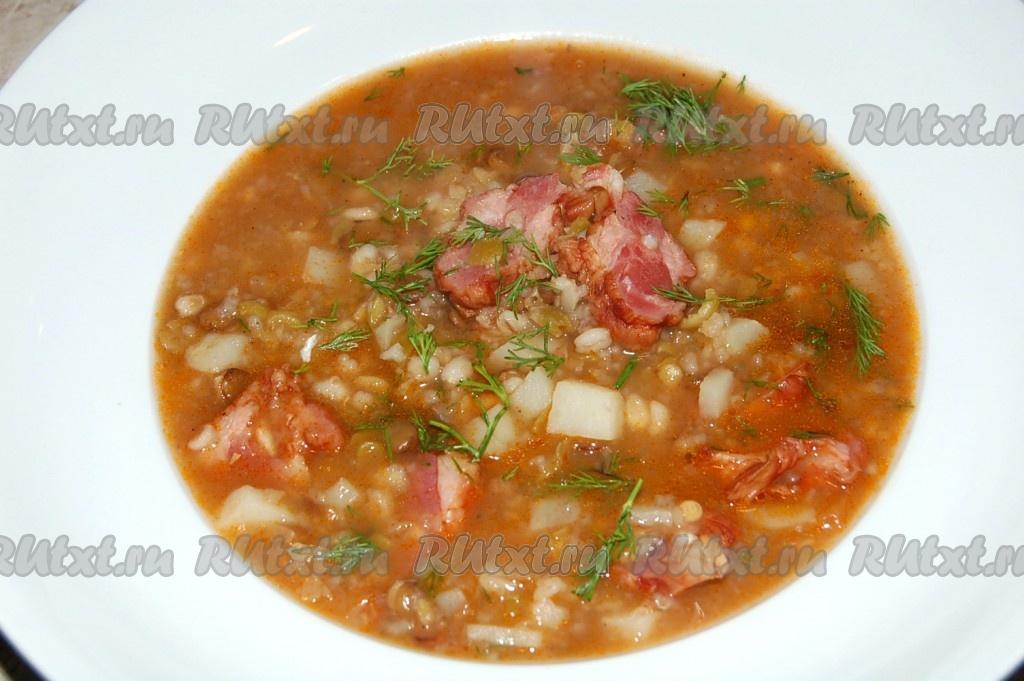 Как варить суп с копченостями