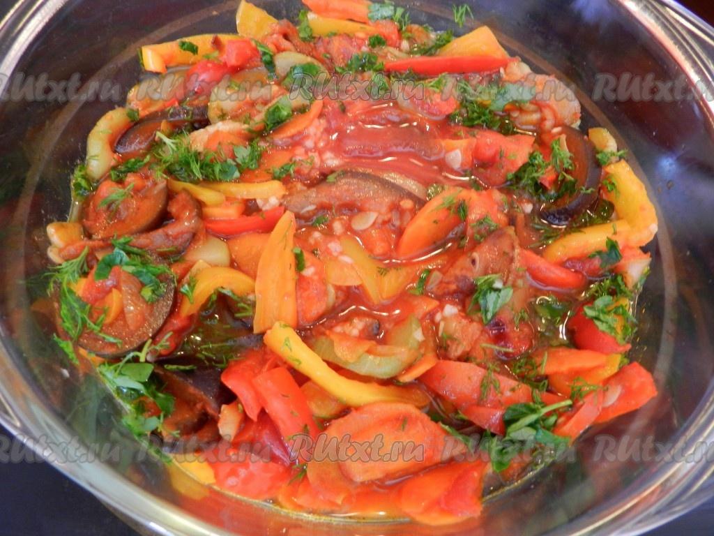 Кулинария рецепты овощное рагу