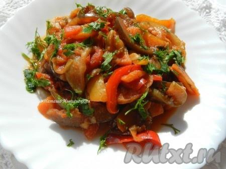 Рецепт приготовления рагу овощного с баклажанами и кабачками, с картофелем