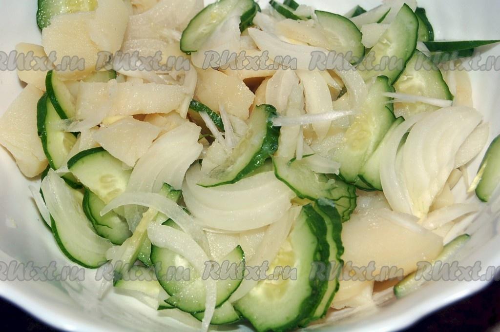 Рецепты салатов с отварной рыбой простые и вкусные