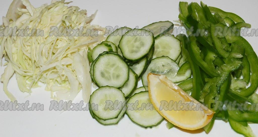 салат огурец капуста и болгарский перец рецепт
