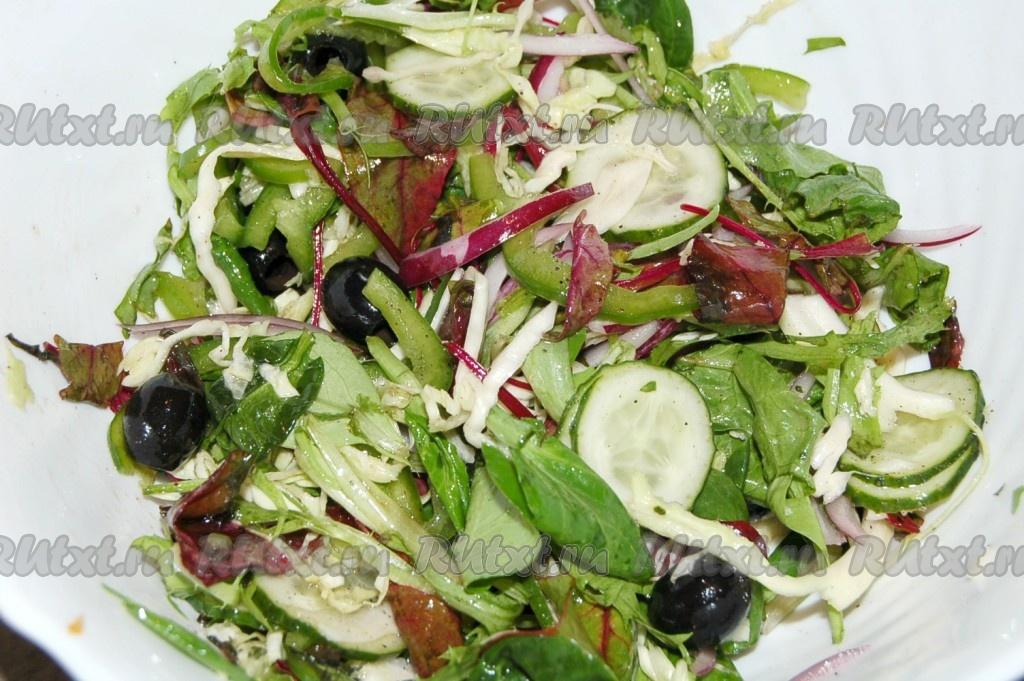 рецепт салата из капусты огурца перца болгарского