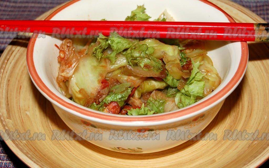 как вкусно потушить китайскую капусту