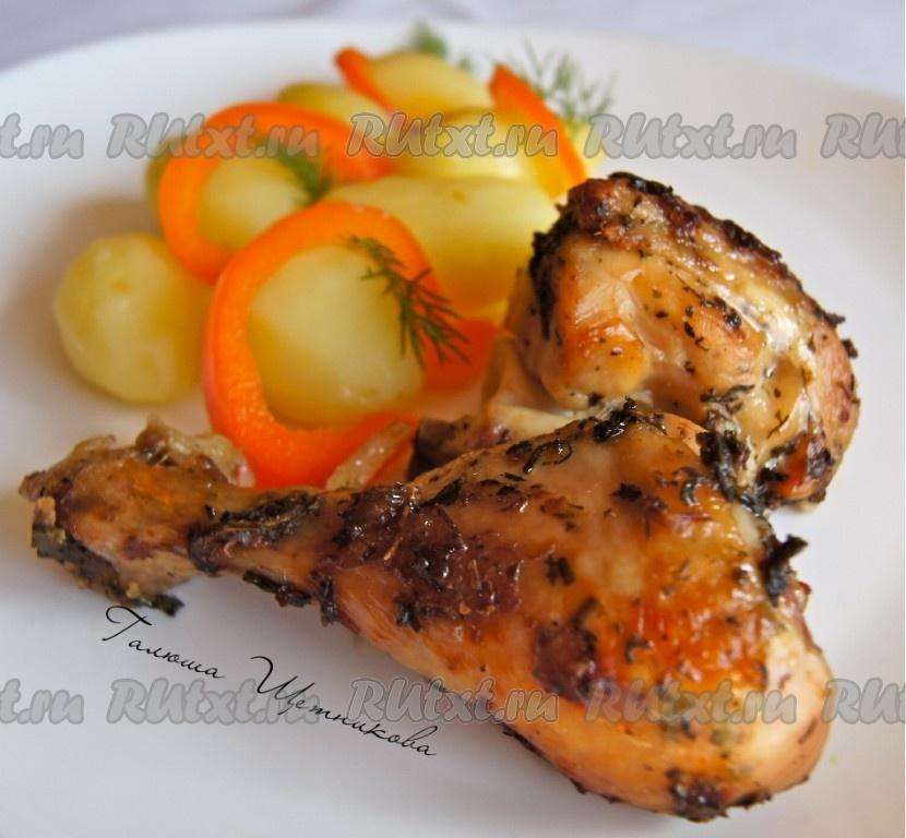 Курица в духовке рецепты в фольге не целиком