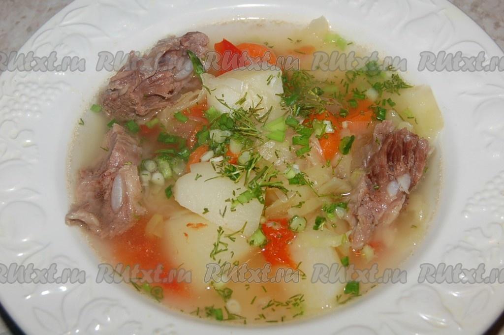 Овощной суп с мясом для ребенка 1