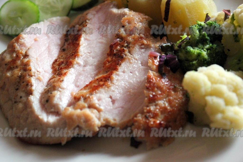 шницель из свинины на сковороде рецепт без панировки