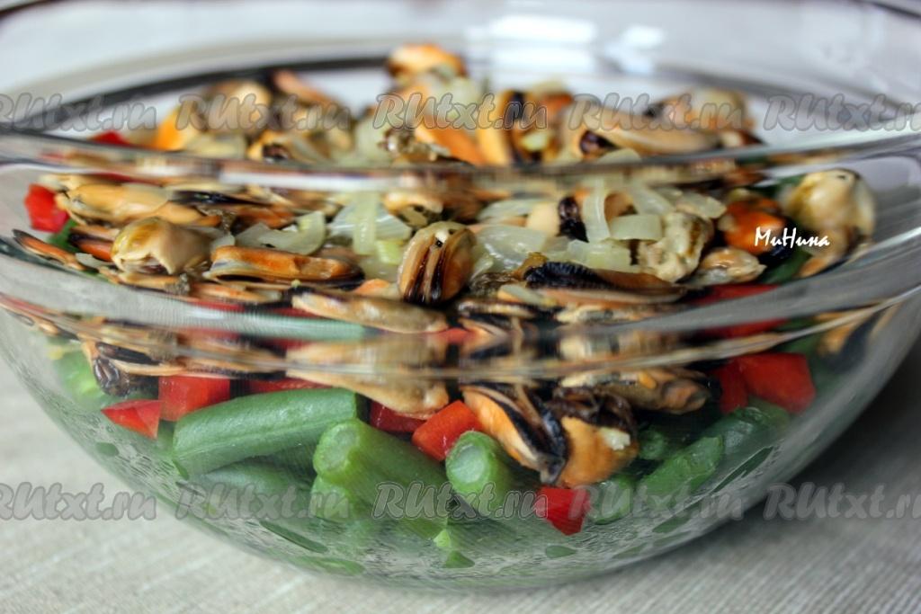 рецепт салата с фасолью и печенью фото