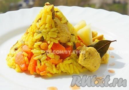 Рецепт плова с курицей и ананасом