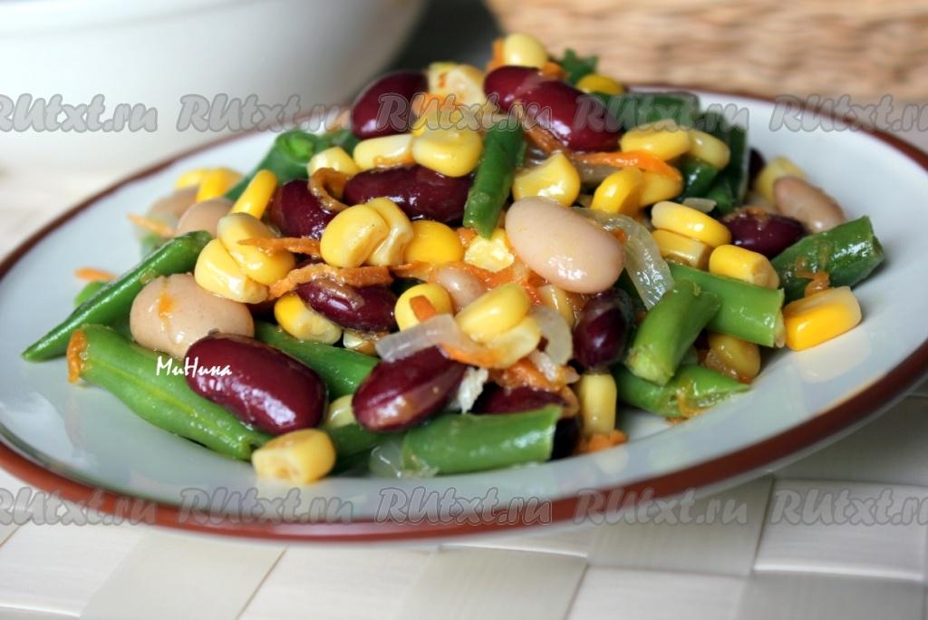 Салат с курицей и фасолью  Рецепты салатов из курицы с