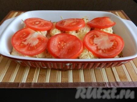 рецепты семги в духовке с помидорами и сыром
